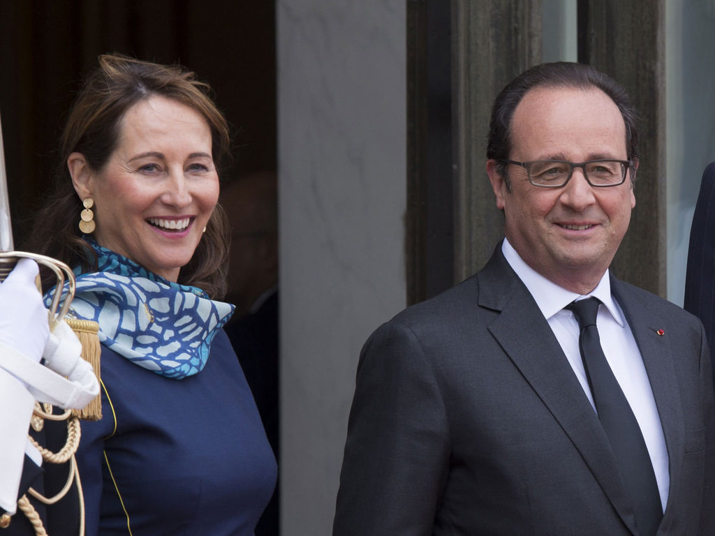 Ségolène Royal and François Hollande at l'Elysée in 2015.