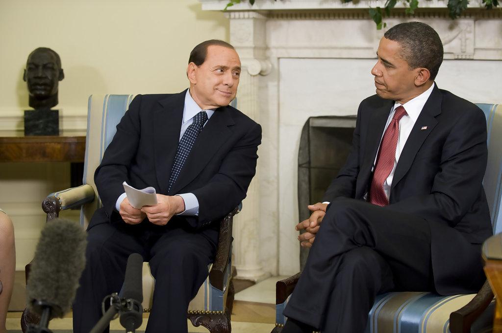 President Obama and Berlusconi in 2009