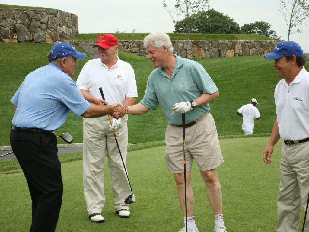 trump clinton golfing